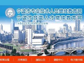 宁波市专业技术人员继续教育网_代学代挂代刷_挂机软件