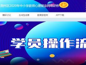 荆州区2020年中小学教师心理健康网络研修代学_挂机软件