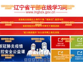 辽宁省干部在线学习网站http://www.lngbzx.gov.cn/
