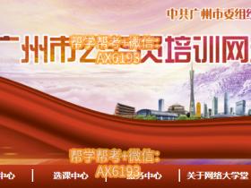 广州市公务员培训网络大学堂挂机软件