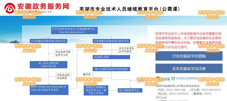 安徽政务服务网|芜湖市专业技术人员继续教育平台http://wh1.ahjxjy.com.cn/reg/